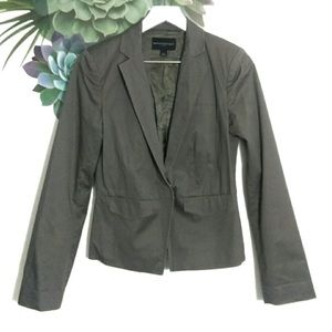 Banana Republic Gray Button Front Fitted Blazer